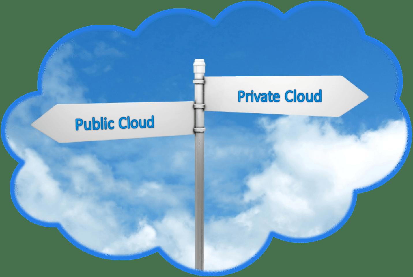 private vs public cloud computing